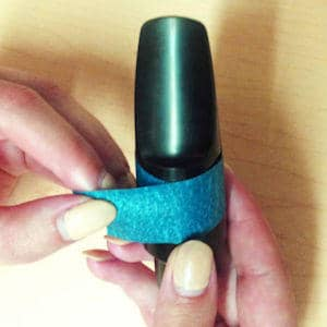 Olegature Custom Sizing Instructions Step 3 - Wrap the tape around the mouthpiece