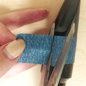 Olegature Custom Sizing Instructions Step 5 - Cut along the pen mark