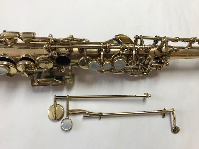 Installation of F-Fork Assembly for Selmer Mark VI Soprano Saxophone - 02