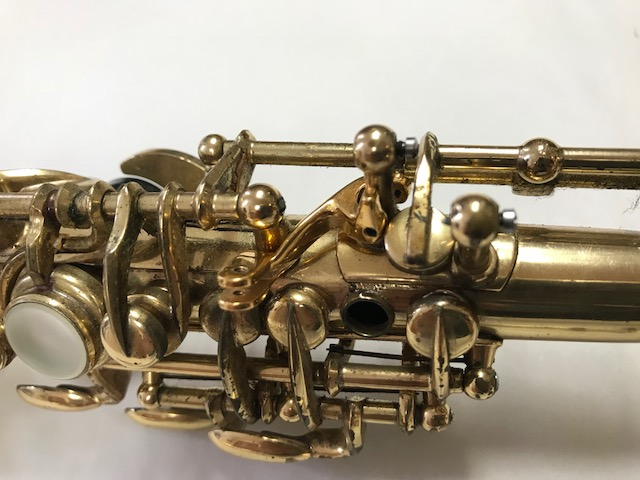 Installation of F-Fork Assembly for Selmer Mark VI Soprano Saxophone - 04