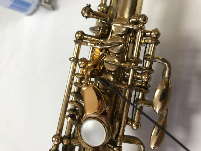 Installation of F-Fork Assembly for Selmer Mark VI Soprano Saxophone - 14