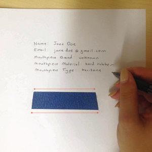 Olegature - ligature sizing instructions - 10